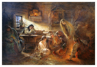 Святочные гадания (1890-е). Константин Маковский