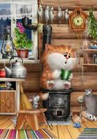Кот на буржуйке
