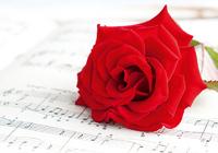 Роза на нотах