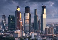 Вид на небоскрёбы «Москва-Сити» с жилого комплекса «Дом на Беговой»