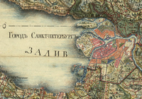 Фрагмент карты Санкт-Петербургской губернии. 1792