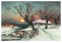 Закат солнца зимой (1891). Юлий Клевер