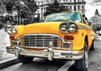 Старое жёлтое такси