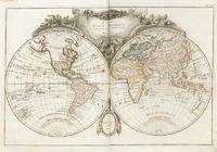 Карта Шара Земнаго. Новый атласъ, 1793