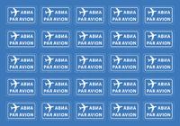 PAR AVION, 25 наклеек для международных отправлений