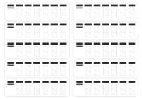 Кодовый штамп, 10 наклеек для написания индекса