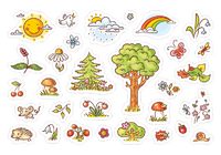 Нарисованная природа. 30 наклеек для посткроссинга